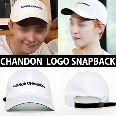 Fashion leader G-DRAGON Korea popular program [Infinity Challenge] fashion style! CHANDON logo embroidery snapback / CHANDON SNAPBACK[MADE]