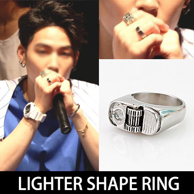 Now, hot Idol GOT7 STYLE! Chic in writer-shaped unique sense of ring / LIGHTER SHAPE RING