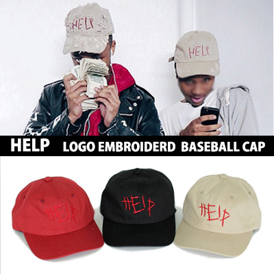 The item that attracted attention , such as popular and hard-to-find ! ! HELP LOGO embroidered baseball cap