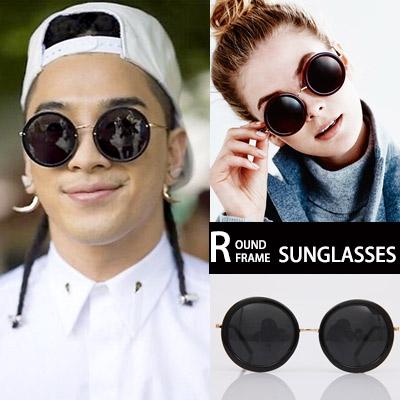 BIGBANG TAEYANG STYLE! Unique round frame sunglasses / ROUND FRAME SUNGLASSES