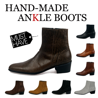 High Quality[24.0~28.5cm] ★ [natural cowhide] Fall MUST-HAVE item! Handmade ankle boots (8colors)