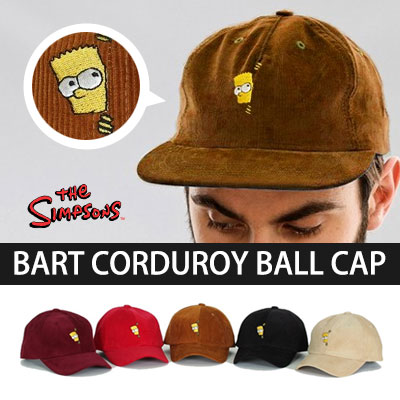 ★ to choose 5 color ★ Hide and Seek Bart Simpson corduroy ball cap