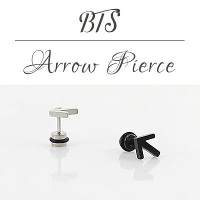 [BTS STYLE!] ARROW PIERCING (SILVER 1ea)(ONE EAR ONLY)