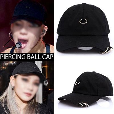 [2NE1 CL/SHINEE TAEMIN!] PIERCING BALL CAP(BLACK,WHITE)