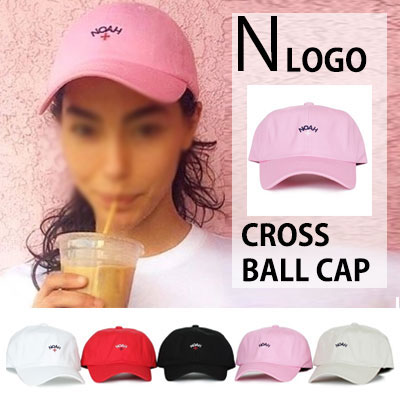 NOAH LOGO PRINT BALL CAP(BLACK,RED,PINK,BEIGE,WHITE)