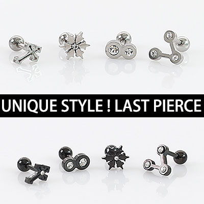 UNIQUE STYLE!LAST PIERCING/1EA/CROSS PIERCING/SNOW FLAKE PIERCING