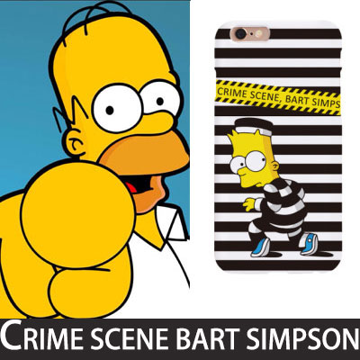Simpson!CRIME SCENE BART SIMPSON smartphone case