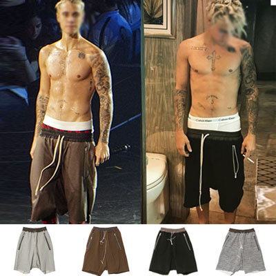 [JUSTIN BIEBER STYLE!] VINTAGE BAGGY SHORTS (4 COLORS)
