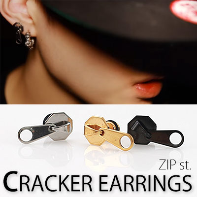 [BTS style!] ZIPPER EARRINGS