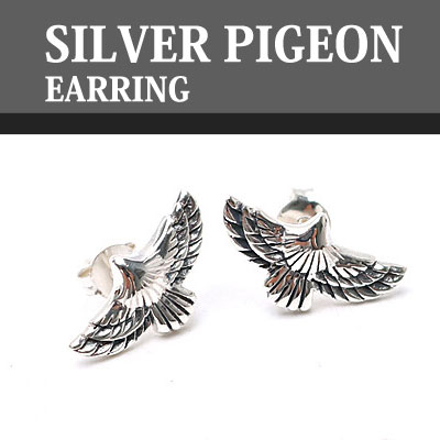 SILVER PIGEON EARRINGS (1EA)