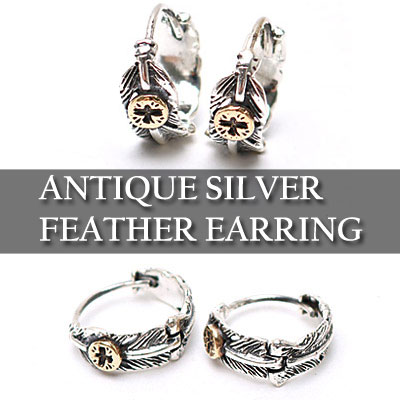 ANTIQUE SILVER EAGLE EARRING (1EA)