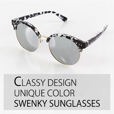 CLASSY DESIGN UNIQUE COLOR SWENKY SUNGLASSES (4 COLORS)