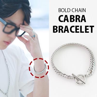 [K-POP IDOL BTS STYLE] BOLD CHAIN CABRA BRACELET