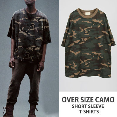 OVER SIZE CAMO STYLE SHORT SLEEVE T-SHIRTS
