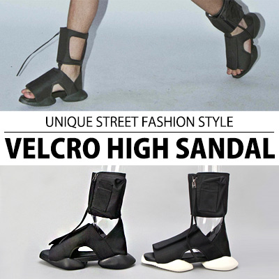 [25.5~28.0cm]UNIQUE STREET FASHION STYLE VELCRO HIGH SANDAL