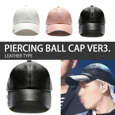 PIERCING BALL CAP VER3。(LEATHER TYPE)