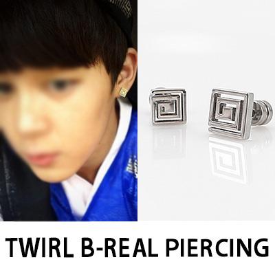 [K-POP IDOL BTS STYLE] TWIRL B-REAL PIERCING(1EA)
