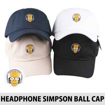 HEADPHONE SIMPSON EMBROIDERY BALL CAP