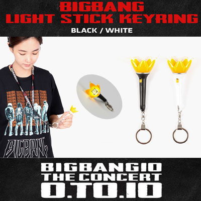 <OFFICIAL GOODS>[BIGBANG MADE][10th]BIGBANG LIGHT STICK KEYRING(BLACK,WHITE)