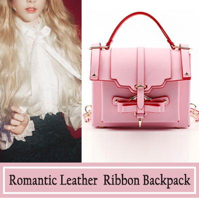 ORDER MADE★LEATHER BAG★ROMANTIC LEATHER RIBBON BAG
