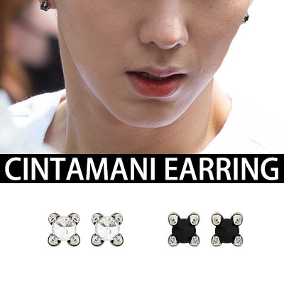 [K-POP IDOL MONSTA X スタイル]チンターマニイヤリング [K-POP IDOL MONSTA X STYLE]CINTAMANI EARRING