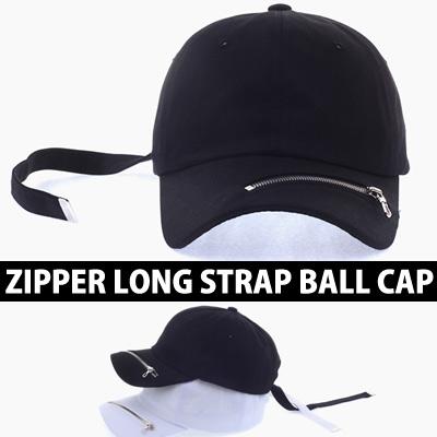 ZIPPER LONG STRAP BALL CAP MORE CASUAL ZIPPER POINT