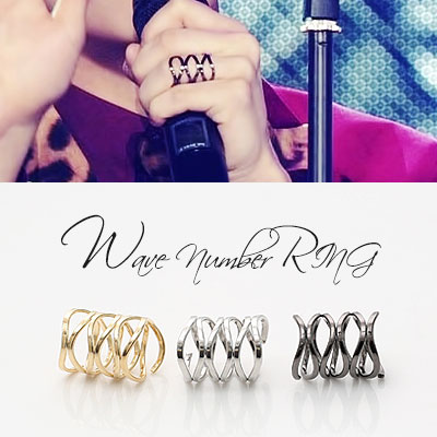 [ K-POP IDOL STYLE ]UNIQUE DESIGN ACC/WAVE NUMBER RING
