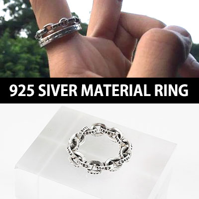 925 SILVER CABLE MATERIAL RING /K-POP IDOL VIXX LEO STYLE