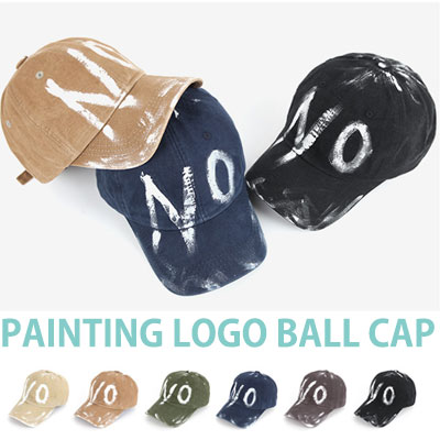 HAND PAINTING 'NO'LOGO BALL CAP
