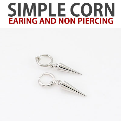 (2ea)SIMPLE CORN EARING AND NON PIERCING/k-pop idol monsta-x style