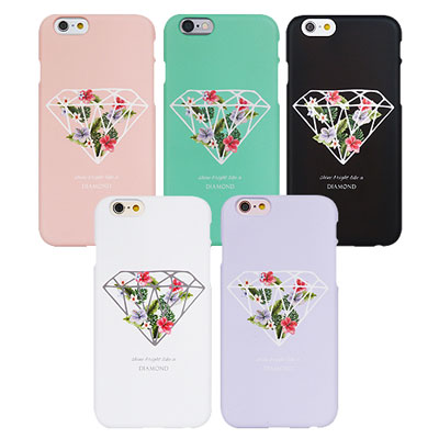 [HARD&TOUGH]Flower diamond phone case(4color)