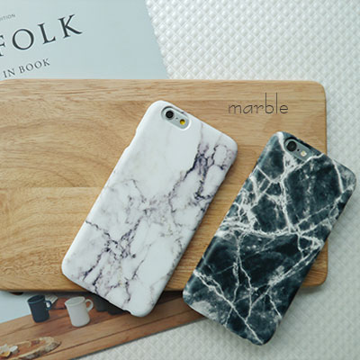 [HARD&TOUGH]  Marble Hard Phone Case (2color)