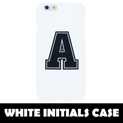 [TOUGH CASE] A~Z CAN CHOICE White Initials Hard Phone Case