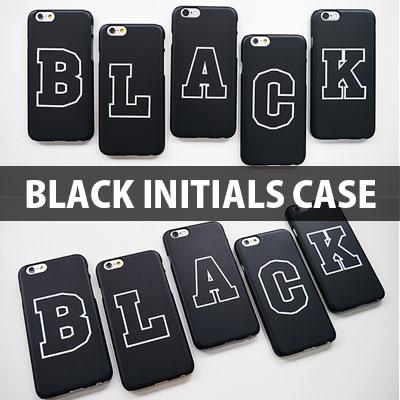 [TOUGH CASE] A~Z CAN CHOICE Black Initials Hard Phone Case