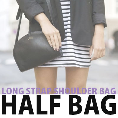 LONG STRAP SHOULDER HALF BAG