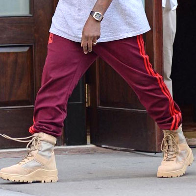 KANYE WEST st. THREE LINE AND LOGO JOGGER PANTS
