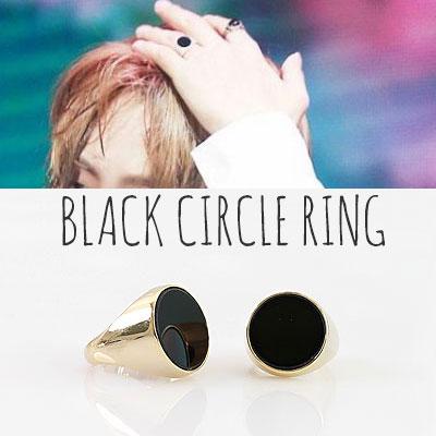 BTS st./BLACK CIRCLE RING