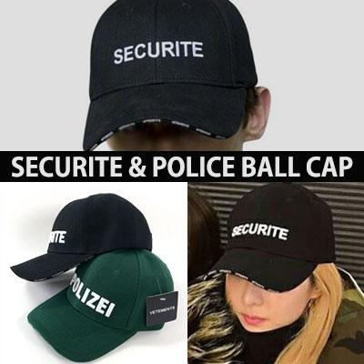 SANDARA STYLE! SECURITE POLICE LOGO BALL CAP