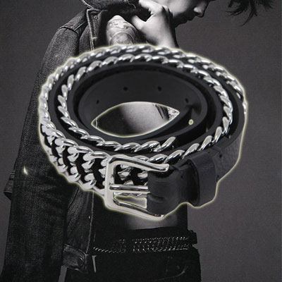 Casual style to the point FASHION ITEM |. B @ L **** st Chain Belt (2size)