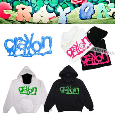 ★DAY SHIPPING★ Crayon crayon [] solo album title song of G-Dragon * crayon fluorescent logo printing parka