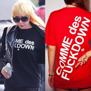 ★DAY SHIPPING★ Popular items ★ 2ne1 bom, BIGBANG g-dragon, well appearance !! COMME des st ** short sleeve T- shirt (2type4color) also in fashion magazines special price !!!