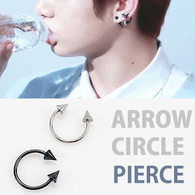 BTS st. ARROW CIRCLE PIERCING