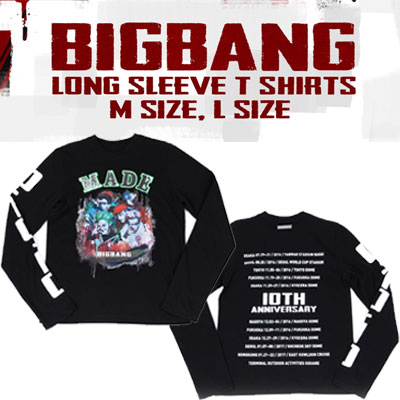 【officail goods】BIGBANG LONG SLEEVE T-SHIRTS