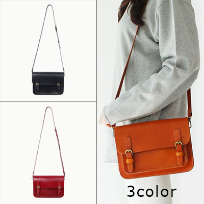 ※cowwide leather※Square Satchel Bag(3COLORS)