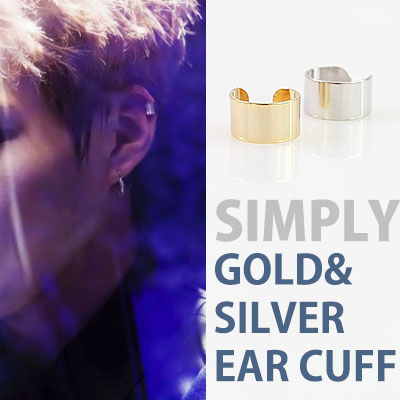 K-POP IDOL EXO ST. SIMPLY GOLD&SILVER EAR CUFF