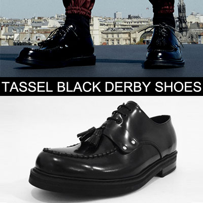 [LUXURY st.][24.5~28.0cm TASSEL BLACK DERBY SHOES