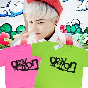 ★DAY SHIPPING★ BIGBANG crayons goods !! g dragon CRAYON cheer item colorful T- shirt