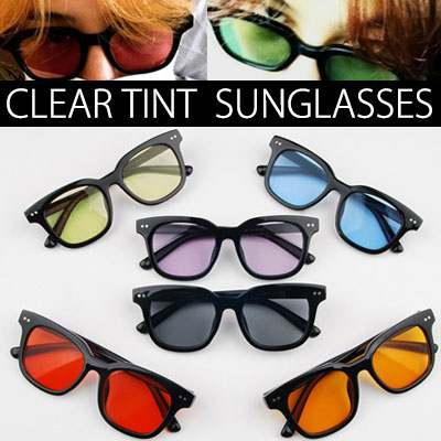★DAY SHIPPING★G-DRAGON,T.O.P SONDAMBI STYLE!CLEAR TINT SUNGLASSES 6COLOR