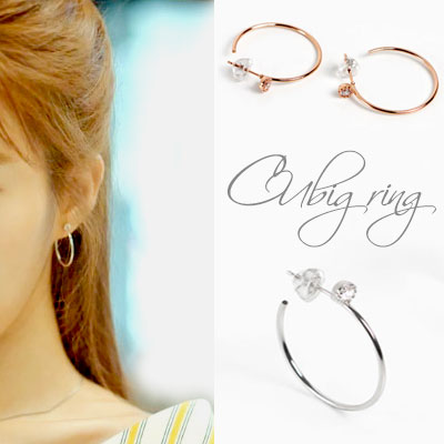 [92.5 SILVER]k-drama st.CUBIC POINT RING EARRING