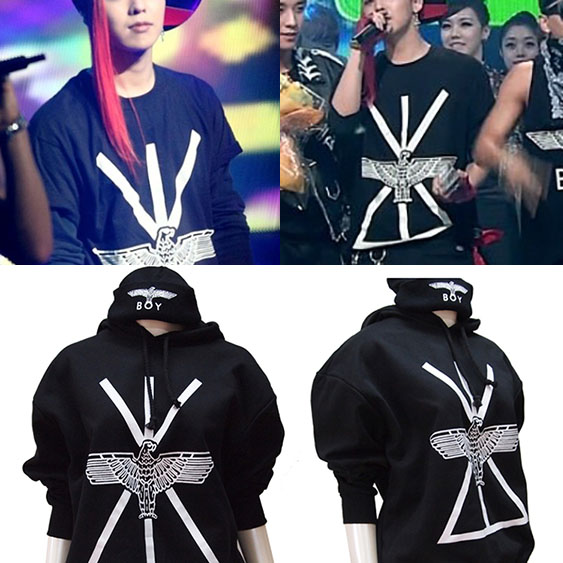 ★DAY SHIPPING★ G-DRAGON, BEAST, INFINITE, popular idol style, such as BAP! BOY LOND * N UNION JACK EAGLE parka OR trainer